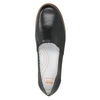 Czarne skórzane obuwie typu slip-on na kontrastowej podeszwie flexible, czarny, 536-6602 - 17