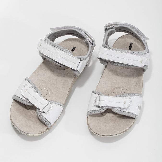 Skórzane sandały damskie wstylu outdoor weinbrenner, biały, 566-1608 - 16