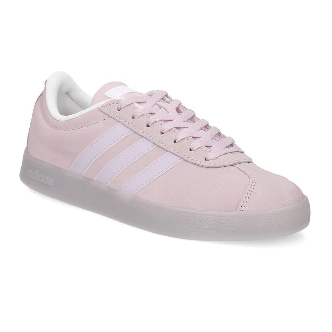 Różowe zamszowe trampki adidas, różowy, 503-5579 - 13