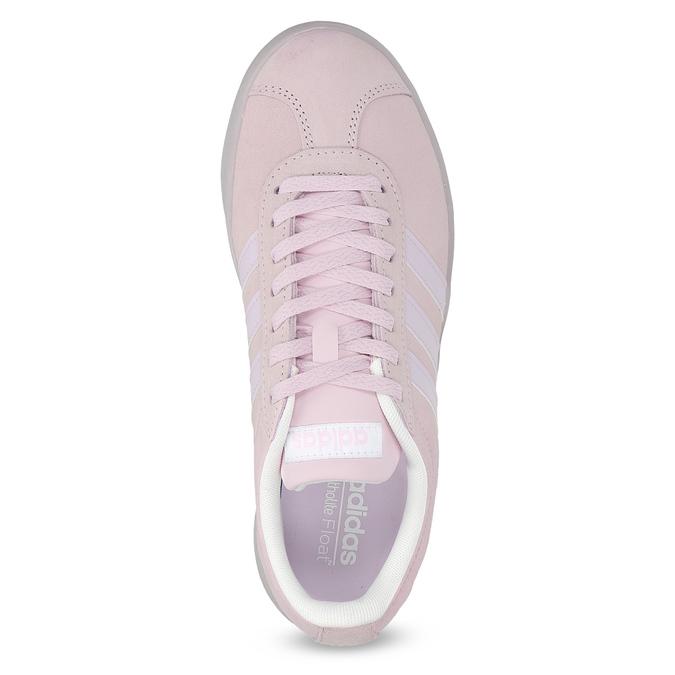 Różowe zamszowe trampki adidas, różowy, 503-5579 - 17
