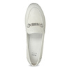 Skórzane mokasyny damskie zwędzidłami bata, biały, 516-1615 - 17