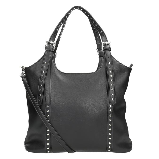 Czarna torba zodpinanym paskiem bata, czarny, 961-6835 - 16