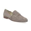 Skórzane mokasyny damskie zpaskiem bata, 516-3616 - 13