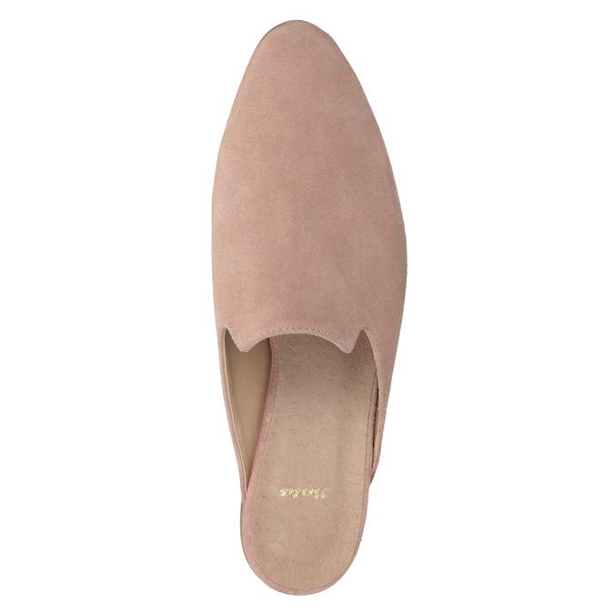 Skórzane mokasyny bez pięty bata, różowy, 516-5620 - 15