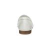 Skórzane mokasyny damskie zwędzidłami bata, biały, 516-1615 - 15
