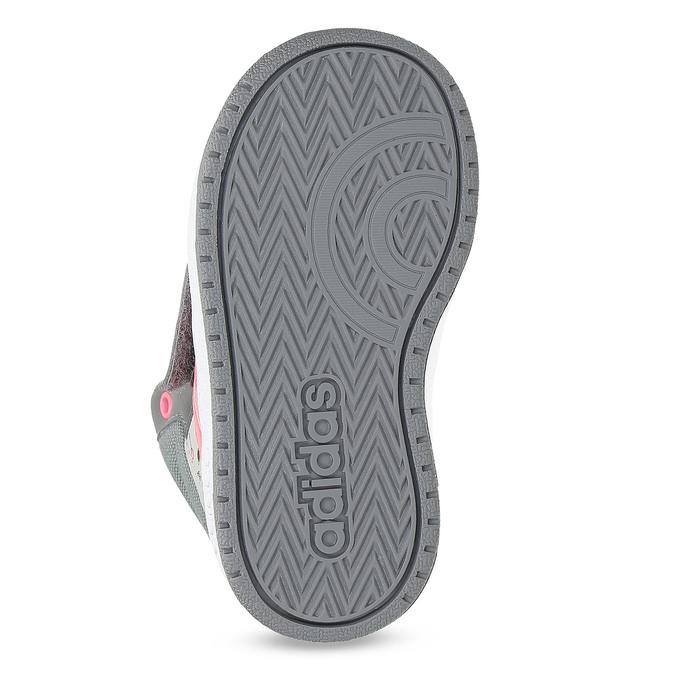 Szare trampki wdeseń, za kostkę adidas, szary, 101-2125 - 18