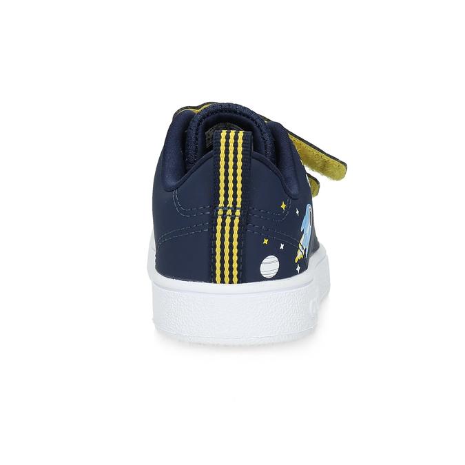 Granatowe trampki dziecięce na rzepy adidas, niebieski, 101-9129 - 15