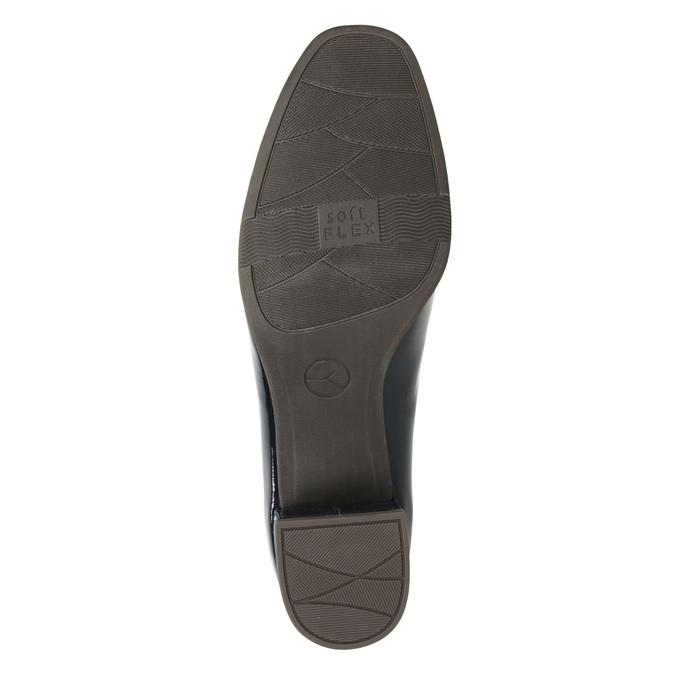 Lakierowane czółenka oszerokości G bata, niebieski, 621-9602 - 17