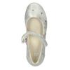 Srebrne baleriny dziewczęce zpaskiem mini-b, srebrny, 321-1615 - 15