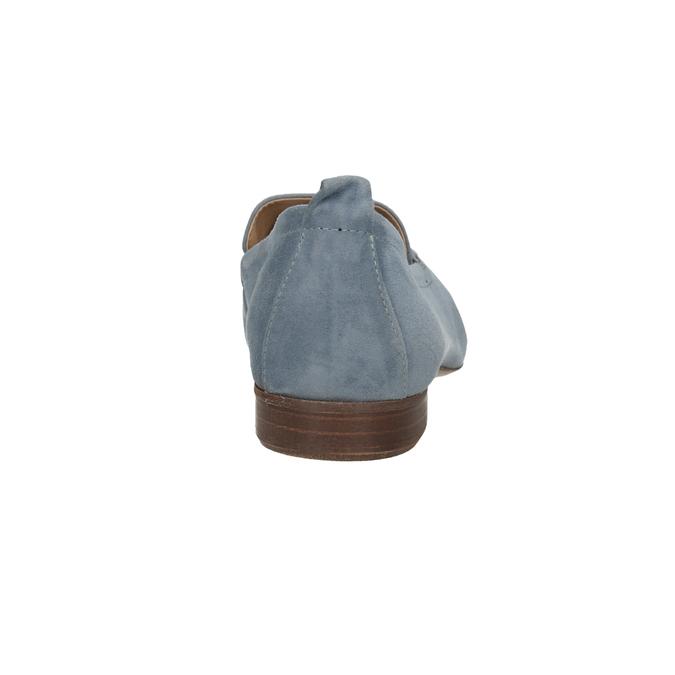Nieformalne zamszowe mokasyny bata, niebieski, 516-9618 - 15