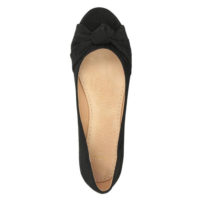 Baleriny damskie zkokardami bata, czarny, 529-6637 - 15