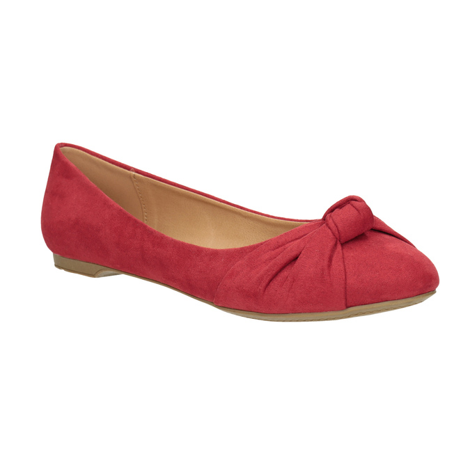 Czerwone baleriny zkokardami bata, czerwony, 529-5637 - 13