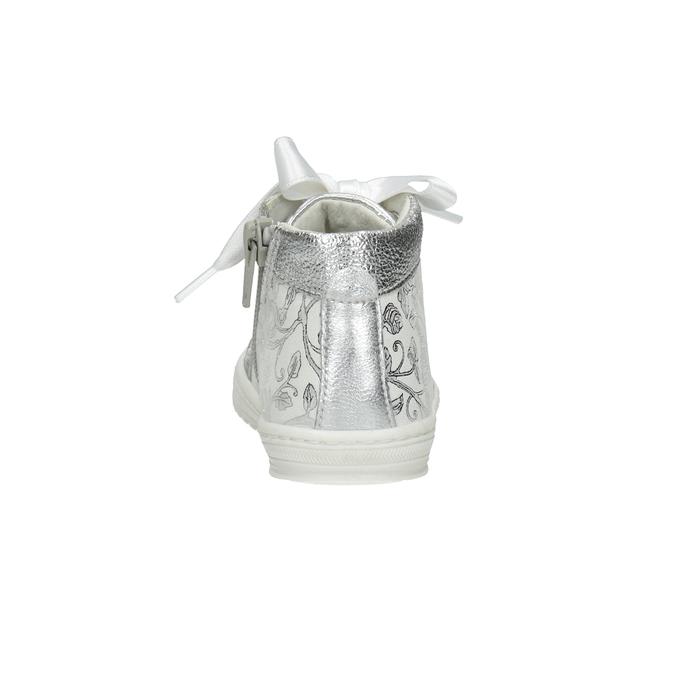 Srebrne obuwie dziecięce zkokardami bubblegummer, 126-1605 - 15