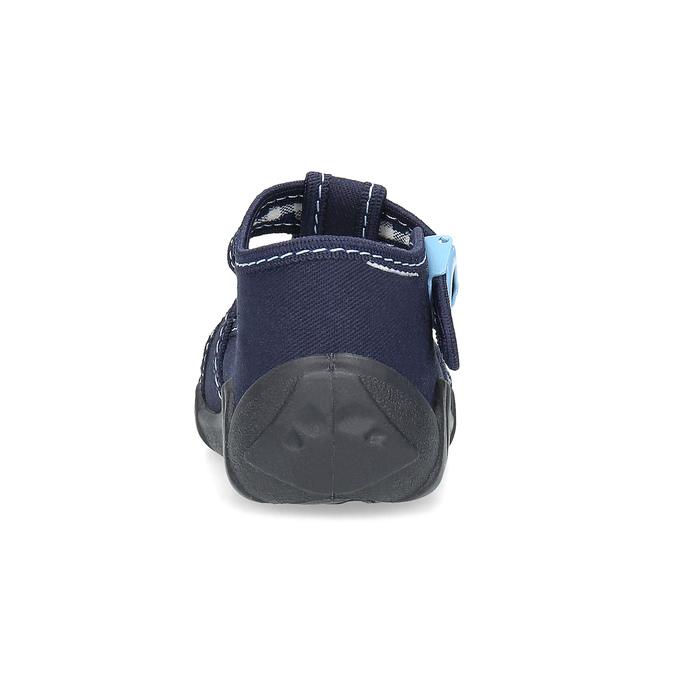 Granatowe kapcie chłopięce mini-b, niebieski, 179-9601 - 15