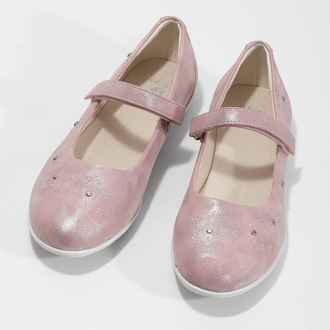 Różowe baleriny dziewczęce zćwiekami mini-b, różowy, 321-5615 - 16