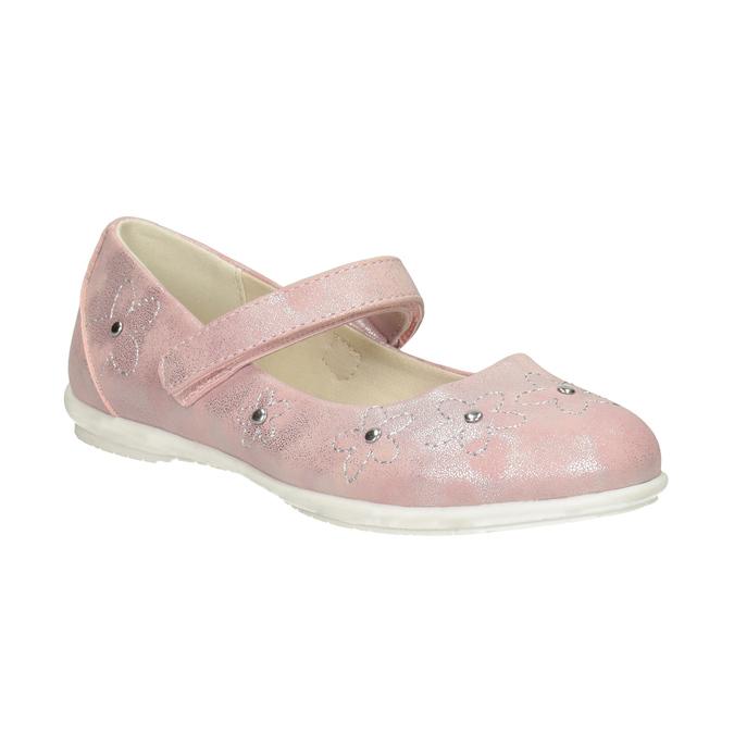 Różowe baleriny dziewczęce zćwiekami mini-b, różowy, 321-5615 - 13