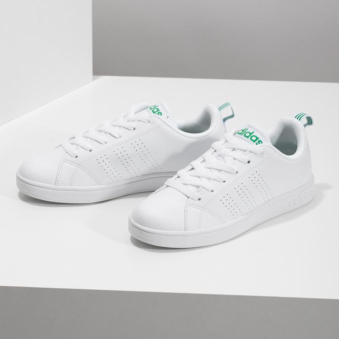 Białe trampki ze złotymi detalami adidas, biały, 501-1300 - 16