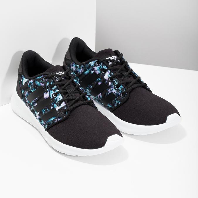 Trampki zkolorowym deseniem wkwiaty adidas, czarny, 509-6212 - 26
