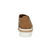 Perforowane półbuty damskie zkryształkami bata, brązowy, 529-3636 - 15