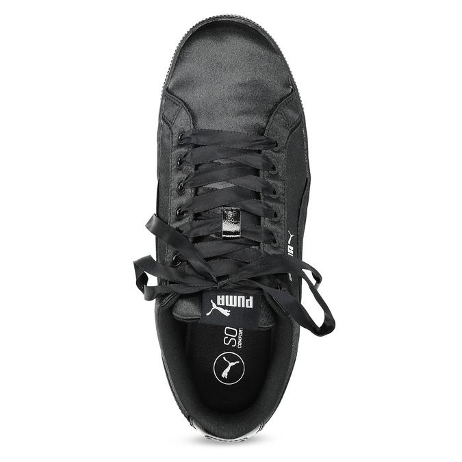 Czarne satynowe trampki puma, czarny, 509-6710 - 17