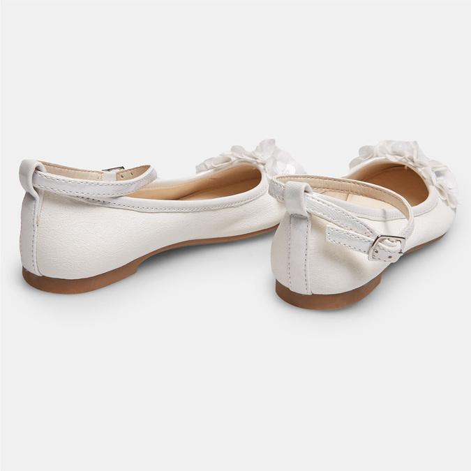 Białe baleriny zkwiatkami mini-b, biały, 321-1162 - 17