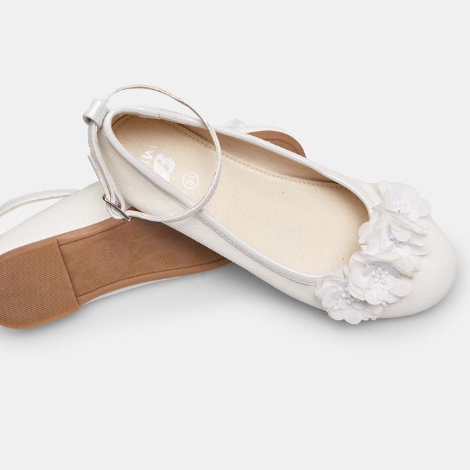 Białe baleriny zkwiatkami mini-b, biały, 321-1162 - 19