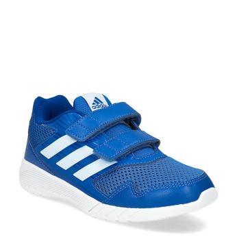 Niebieskie trampki dziecięce na rzepy adidas, niebieski, 309-9148 - 13
