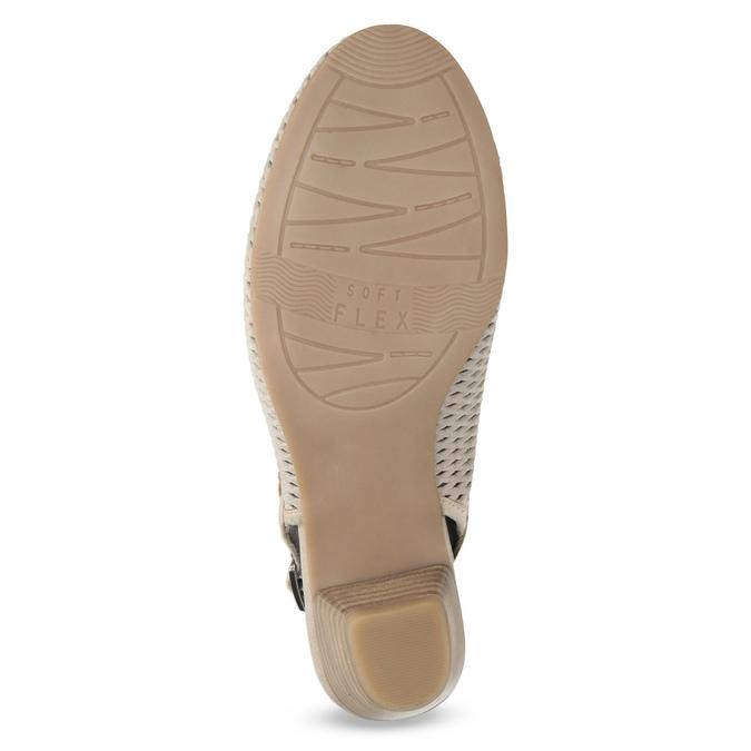 Skórzane czółenka oszer. H, bez pięty bata, beżowy, 623-2645 - 18