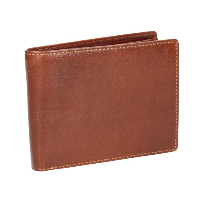 Brązowy skórzany portfel męski bata, brązowy, 944-3191 - 13