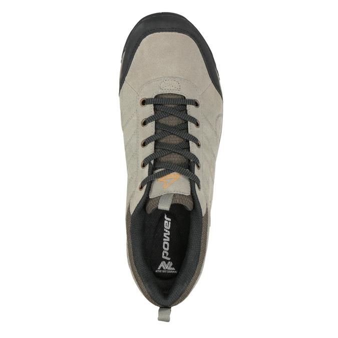 Skórzane obuwie wstylu outdoor power, brązowy, 803-3848 - 15