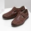 Skórzane sandały na rzepy fluchos, brązowy, 864-4605 - 16