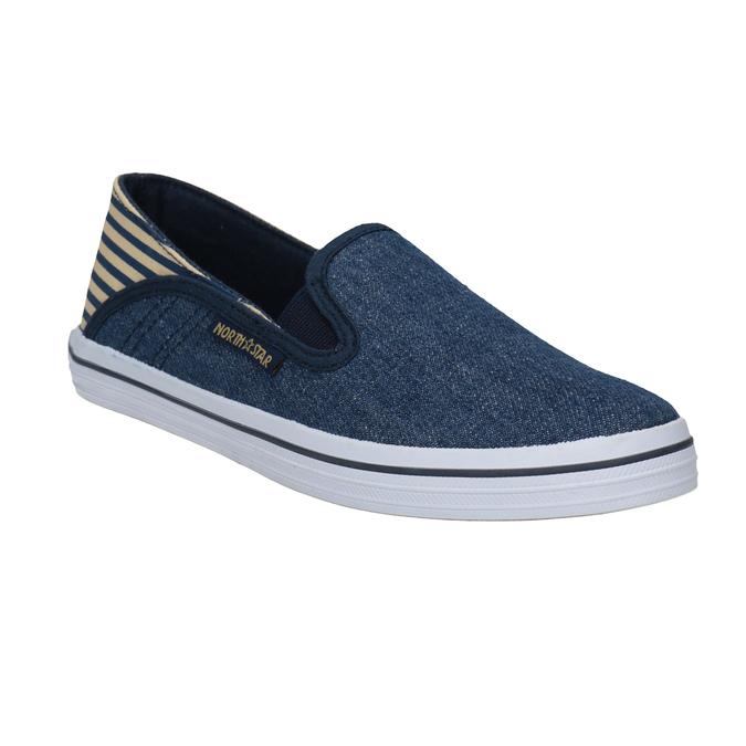 Slip-on dziecięce wdżinsowym stylu north-star, niebieski, 419-9615 - 13