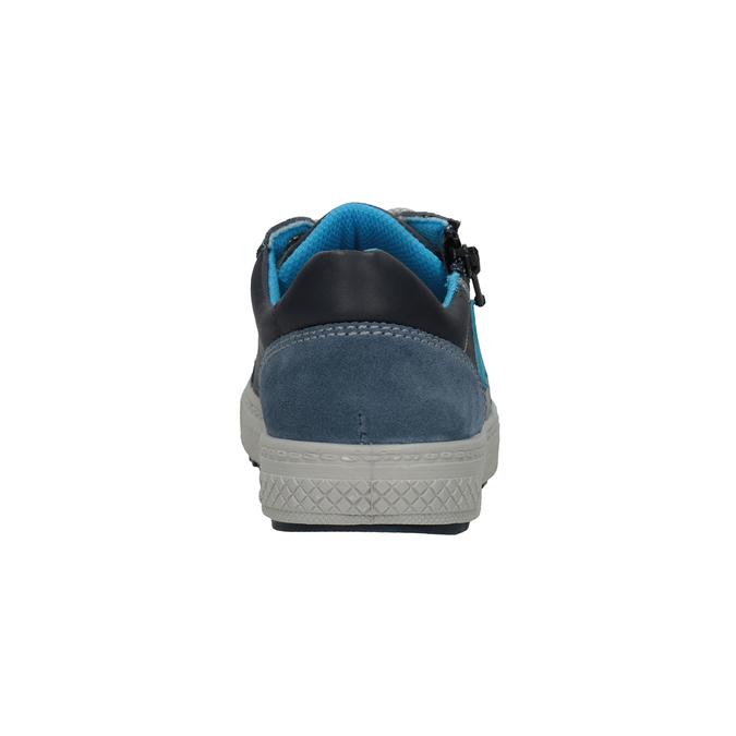 Niebieskie skórzane trampki chłopięce mini-b, niebieski, 416-9603 - 16