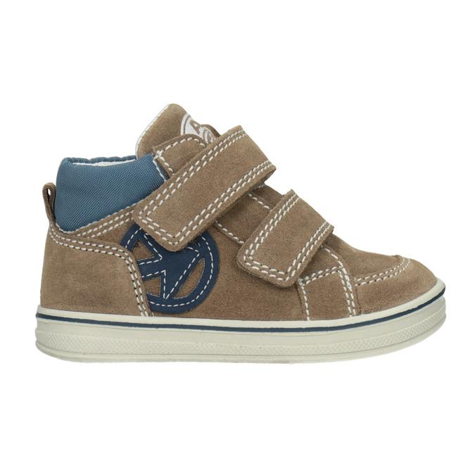 Skórzane obuwie dziecięce za kostkę bubblegummer, brązowy, 113-4607 - 26