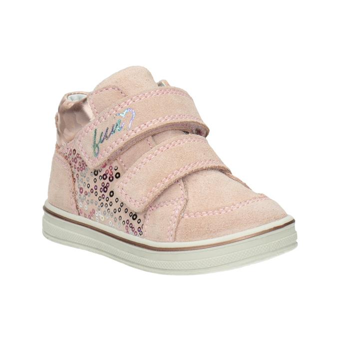 Skórzane botki dziecięce dla dziewcząt bubblegummer, różowy, 123-5606 - 13