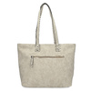 Beżowa torebka typu shopper zperforowanym wzorem gabor-bags, beżowy, 961-8442 - 16