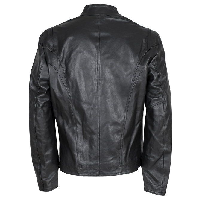 Czarna skórzana kurtka męska bata, czarny, 974-6134 - 26