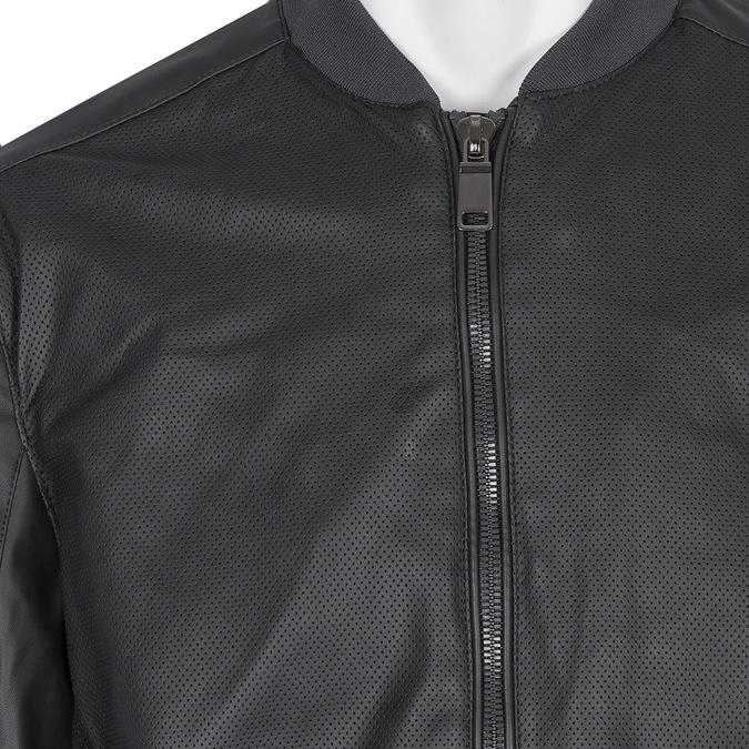 Perforowana kurtka męska bata, czarny, 971-9197 - 16