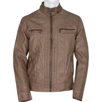 Brązowa kurtka męska ze skóry ekologicznej bata, brązowy, 971-3194 - 13