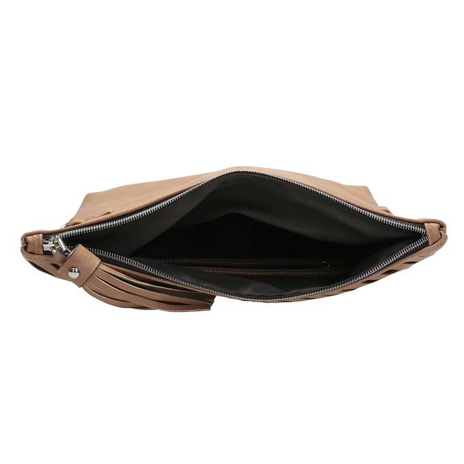 Brązowa torebka typu crossbody zchwostem bata, brązowy, 961-4829 - 15