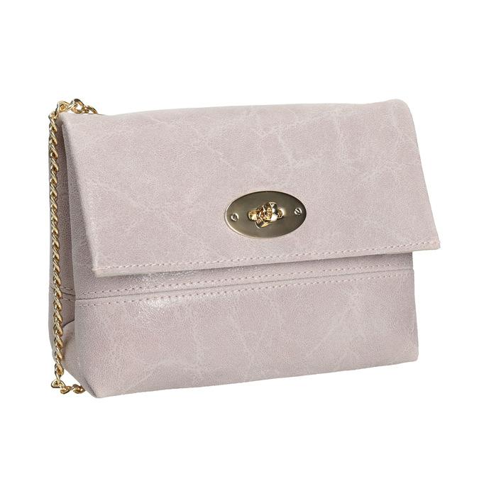 Skórzana torebka typu crossbody ze złotym łańcuszkiem bata, multi color, 964-0239 - 13