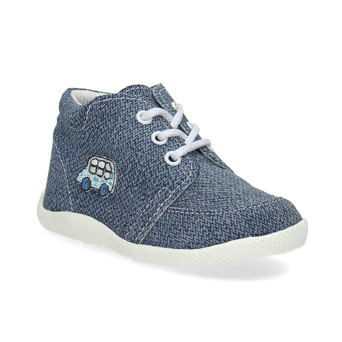 Trampki dziecięce za kostkę bata, niebieski, 113-9609 - 13