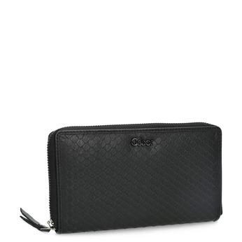 Skórzany portfel damski ofakturze łusek gabor-bags, czarny, 946-6002 - 13