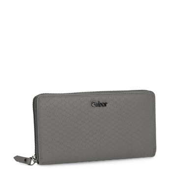 Szary skórzany portfel damski gabor-bags, szary, 946-8002 - 13