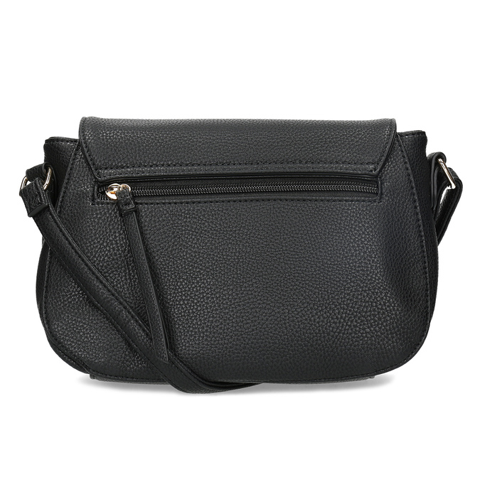Czarna torebka typu crossbody ze złotymi zamkami błyskawicznymi gabor-bags, czarny, 961-6001 - 16