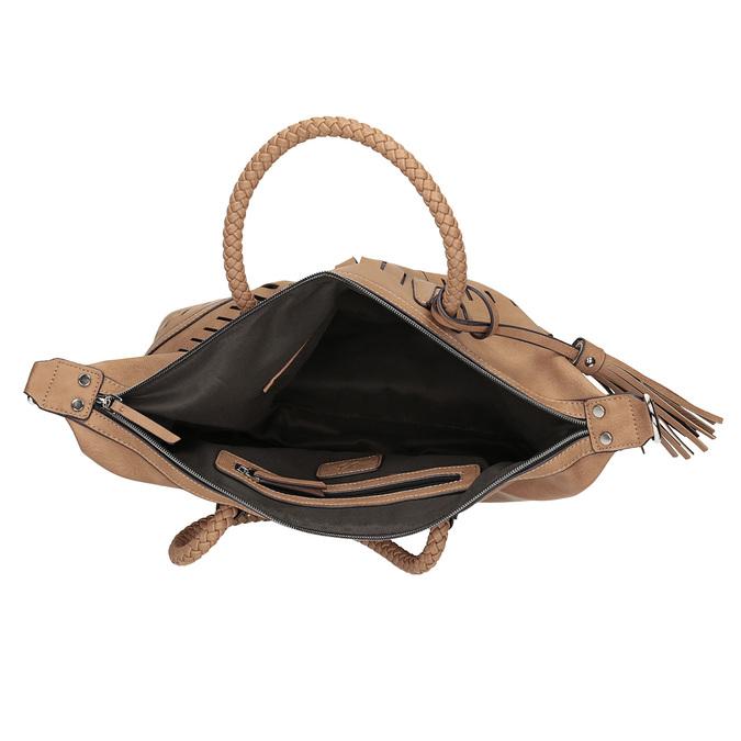 Brązowa torebka damska zperforowanym wzorem bata, brązowy, 961-4827 - 15