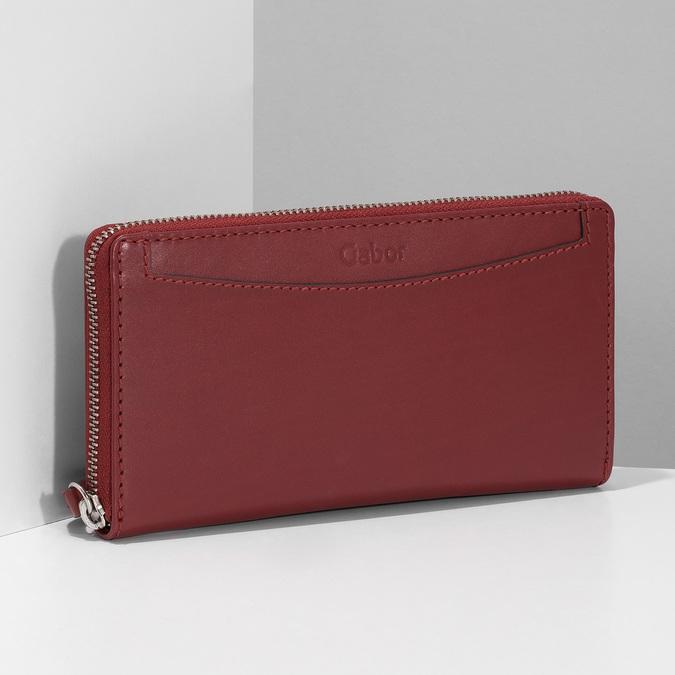 Czerwony skórzany portfel damski gabor-bags, czerwony, 946-5003 - 17
