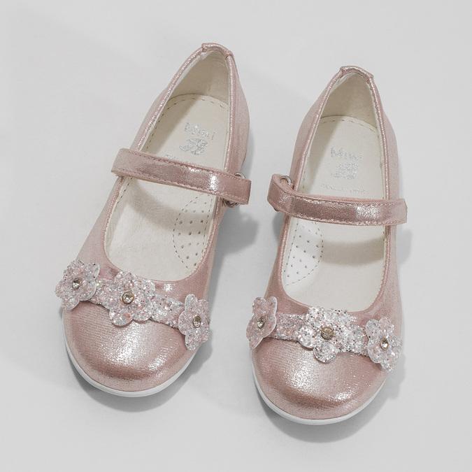 Różowe baleriny dziewczęce zrefleksami mini-b, różowy, 229-5106 - 16