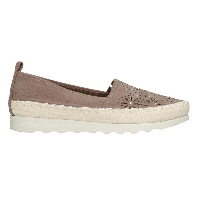 Brązowe espadryle damskie bata, 519-5606 - 26