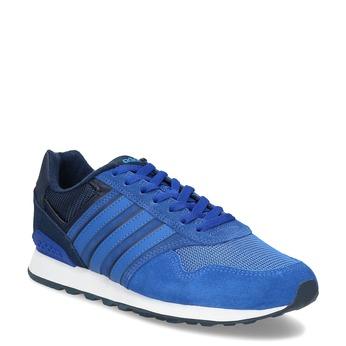 Niebieskie skórzane trampki Adidas adidas, niebieski, 803-9293 - 13